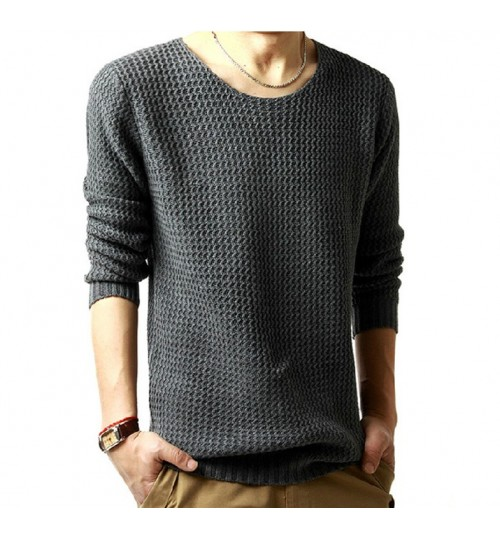 Men's Knit Sweater British Style European Plus Size