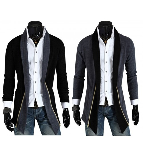 Autumn Winter new long tuxedo design casual long sleeve Slim cardigan coat