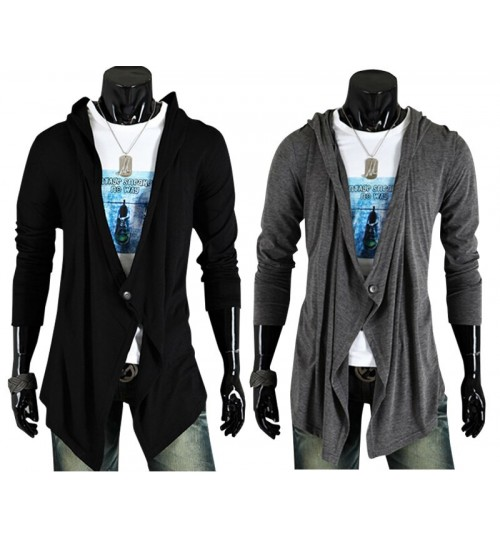 Korean style new fashion buckle casual long-sleeved men's jacket