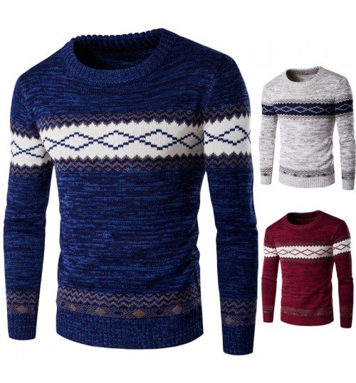 Autumn Winter boutique European and American men's warm sweater thickening style 3 colors