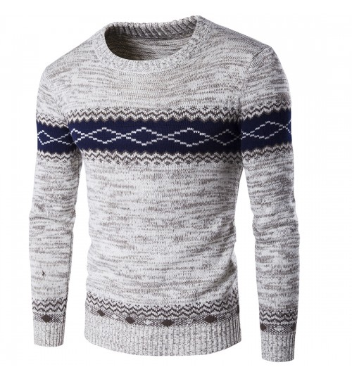 Autumn Winter European American boutique men's warm thick sweater