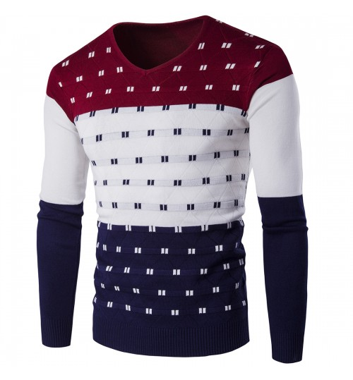 Autumn Winter colorful men's warm sweater