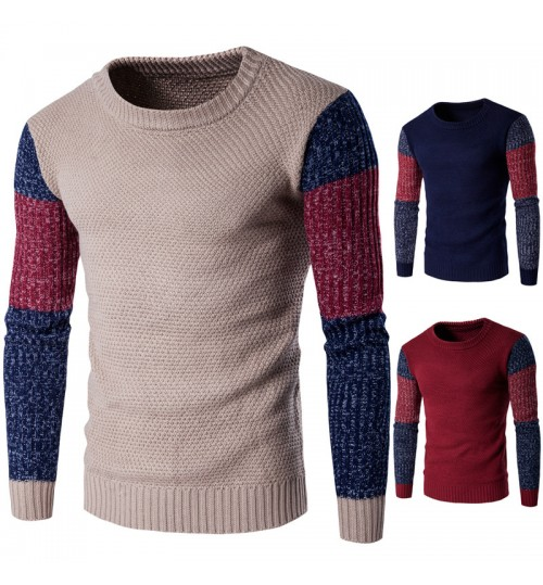 Autumn Winter western men's fashion multicolor warm needle knit sweater clothing