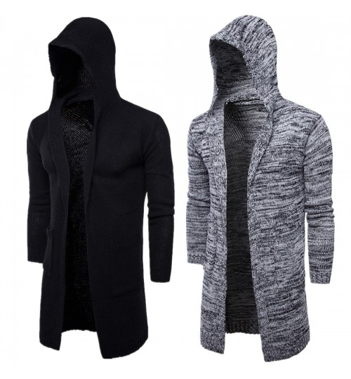 Autumn Winter male hooded cardigan jacket men's European and American tide sweater