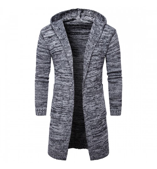 Autumn Winter male hooded cardigan outerwear men's European and American sweater