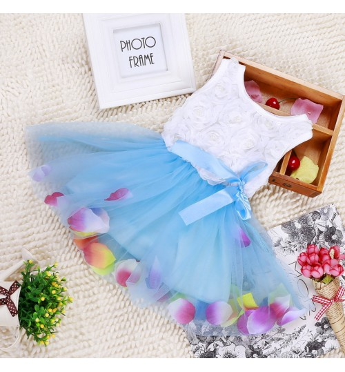 Autumn and winter children's clothing girls new petals Korean dress child infant skirt
