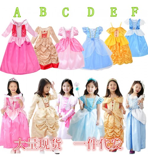 New Dress Cute Princess Girls Christmas Red Dress Christmas Party Costume