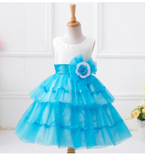 New flower girl skirt Korean children's wedding princess sleeveless dress