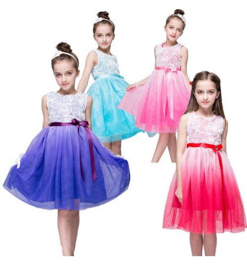 Girls Dresses Summer Children Princess Kids Knit Dress