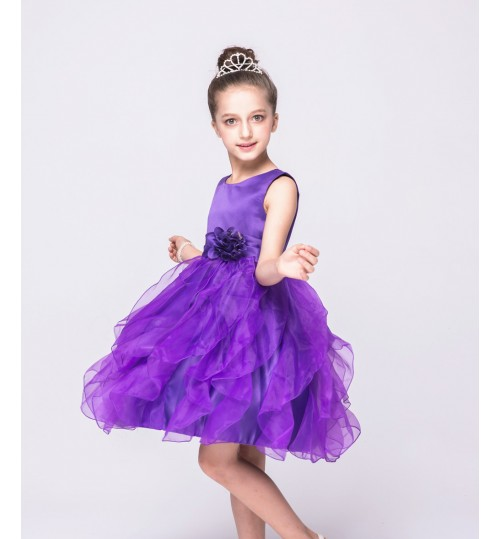 Four color princess wedding dresses Children's day performance tutu dresses