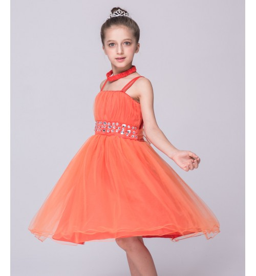 Children's strapped skirt princess dress girl's gauze clothes