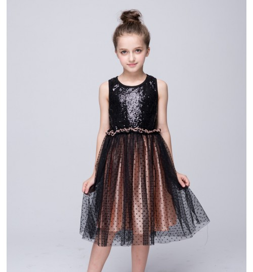 Children's clothing girls cotton fashion princess sequin dress
