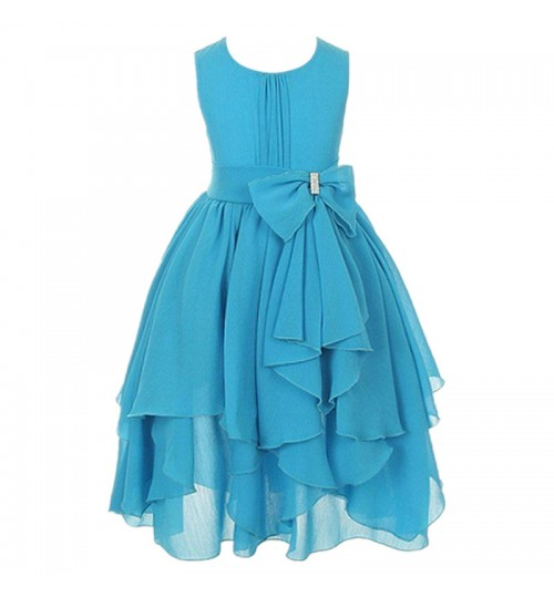 children's clothing girls chiffon refreshing dress purple blue white red princess skirt