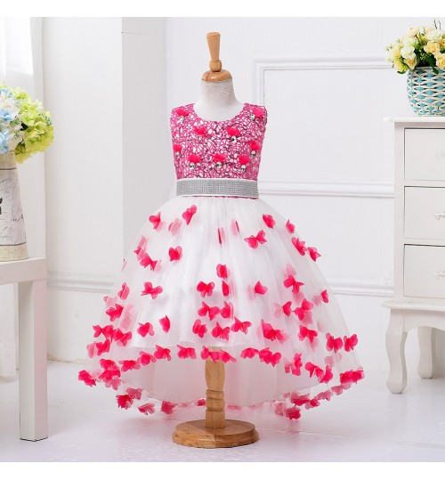 New girls princess dress party dress children show pettiskirt girl decals trailing wedding dress