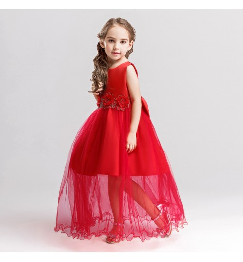 Children's Dresses Hot selling Flower Princess Sleeveless Long Gauze Girl Dress