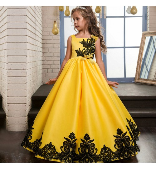 Hot sale princess child dress Europe and the United States baby dress