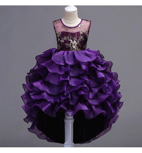 Children's skirt train princess dress cake puff show clothes
