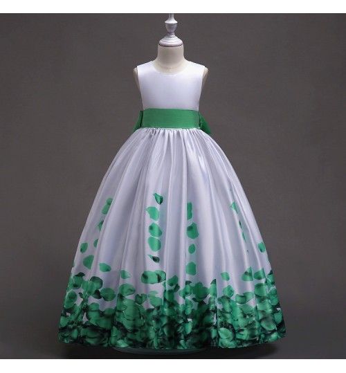 refreshing evening dress flower girl sleeveless princess dress children performance clothing