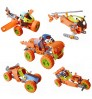 Children's DIY Building Blocks Screw Nuts Assemble Concept Racing Car Aircraft Toys