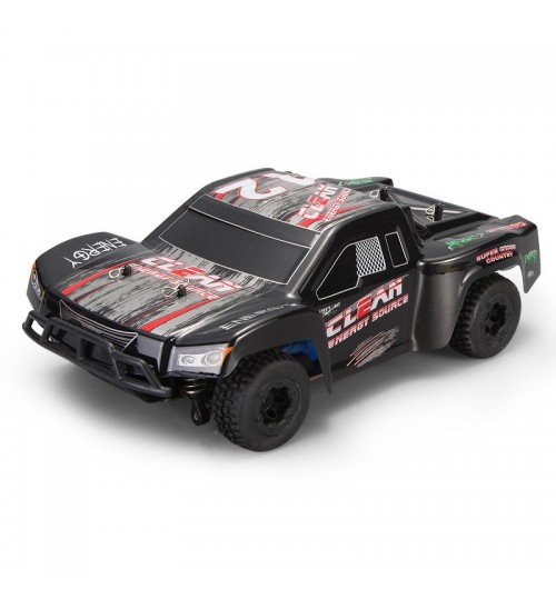 Off-road drift short truck model toy 1:24 electric remote control car alloy chassis