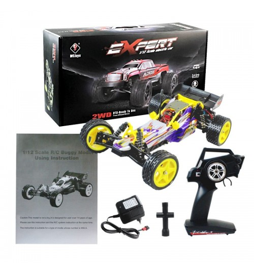 Off-road remote control high-speed vehicle model toy 1:12 electric two-wheel drive stunt car toy