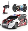 High-speed off-road remote control Electric racing car model red blue plastic toy