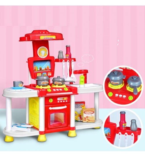 3-6 years old children cosplay toy boy Girl kitchen cutlery set Electric sound
