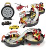 Children's educational toy tire assembly track two layer car parking alloy car aircraft