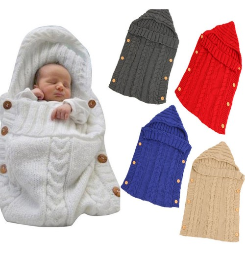 autumn and winter infant knit wool sleeping bag pram warm baby sweater