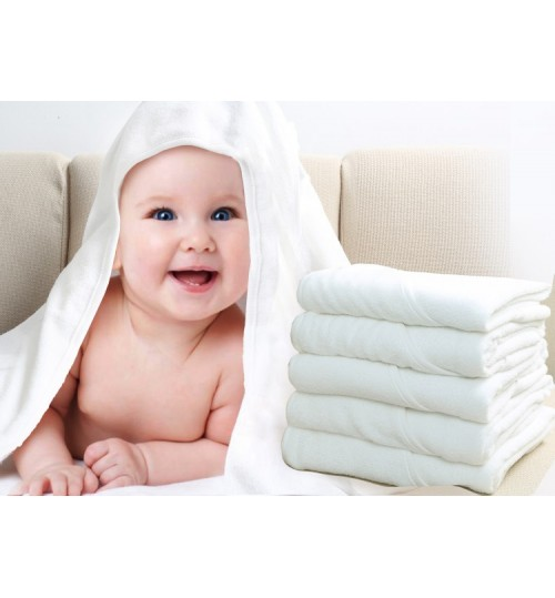 Baby Bath Towel white cotton material Baby products