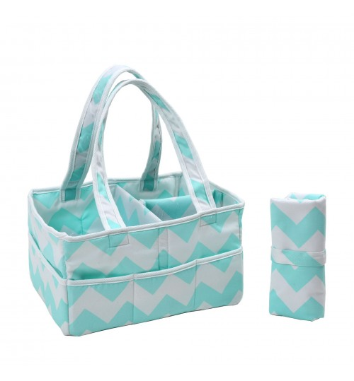 Blue Baby Diaper Storage hand basket Waterproof Diaper Mat