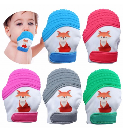 New baby finger hands protection silicone Polyester Fabric molar gloves