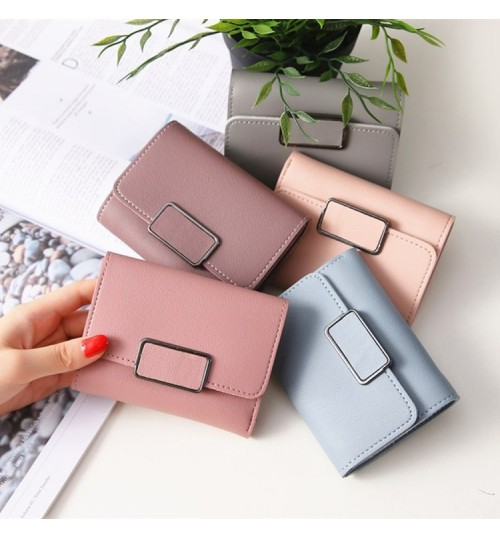Women Short Wallet Simple Check Fashional Handmade Wallet