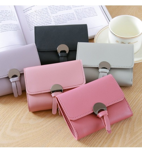 Fashion short wallet ladies slim mini purse simple cute wallet