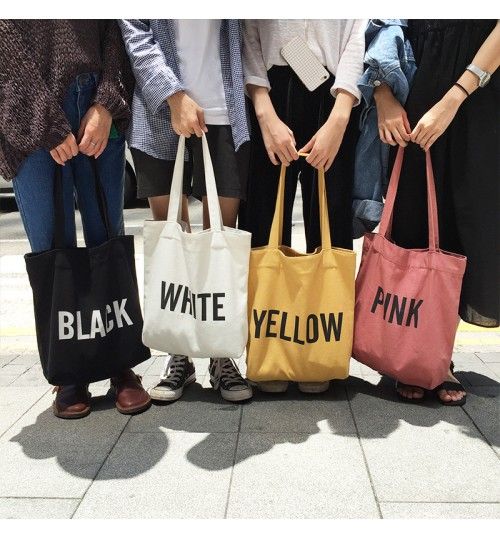 2018 new canvas bag casual fashion vertical square shoulder bag