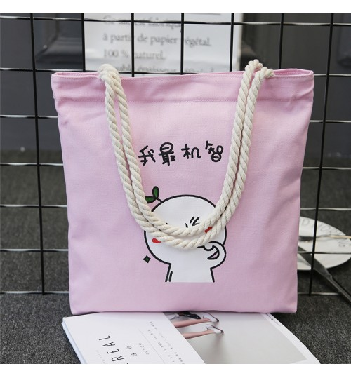 2018 new Shoulder bag casual fashion art simple vertical square large-capacity canvas bag