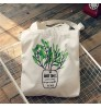 Autumn and winter new canvas shoulder bag plant simple portable bag student handbags