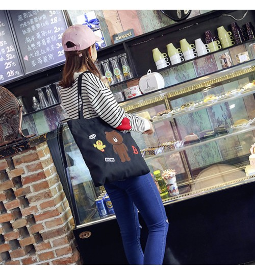 Fashion female simple tote bag large-capacity canvas shoulder bag