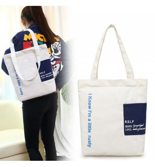 2018 New Korean Canvas Bag Handbags Shoulder Student Tote Bag