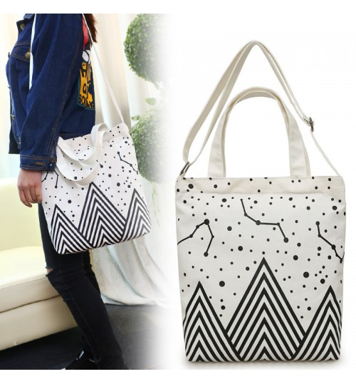 2018 New canvas bag art handbag shoulder bag shopping tote bags