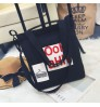 2018 new printing letter canvas bag vertical square casual fashion large capacity Tote bag