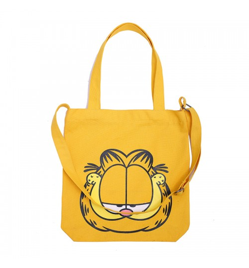 New Garfield pattern canvas bag simple student shoulder bag Tote