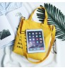 Canvas bag simple letter Tote large-capacity shopping bag