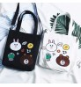 2018 New Canvas Bag Handbag Portable Simple Student Tote Shopping Bag
