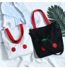 2018 New fruit pattern design Canvas Shoulder Simple Student Tote Shopping Bag