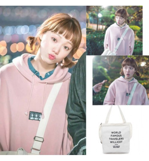 Korean Supermodel Shoulder Messenger Canvas Bag Women's environment friendly shopping bag