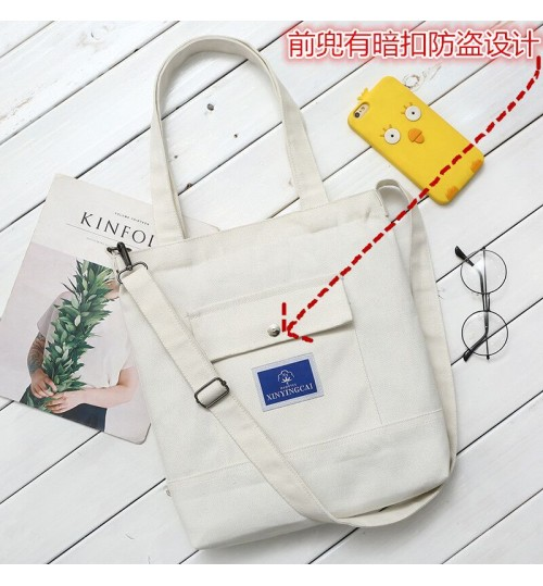2018 canvas bag female shoulder Messenger bag student large-capacity handbag