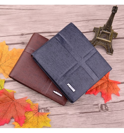 2018 new men's short wallet youth multi-functional loose-leaf purse
