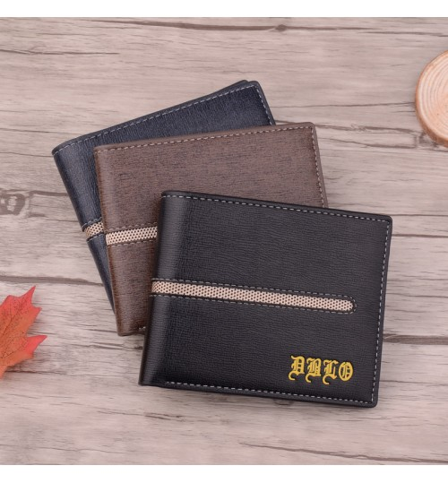 Authentic men's short wallet high-end business loose-leaf multi-function card pack