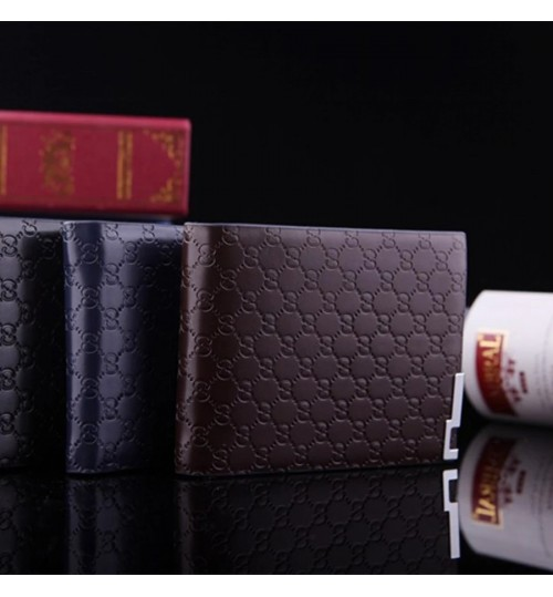 Personalized New Men's Short Wallet Fashional Embossed Casual Zipper case